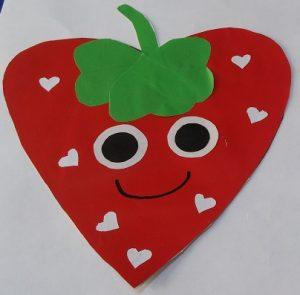 strawberry craft idea for preschool and kindergarten