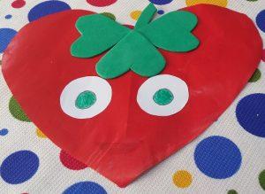 strawberry craft idea for preschool & kindergarten