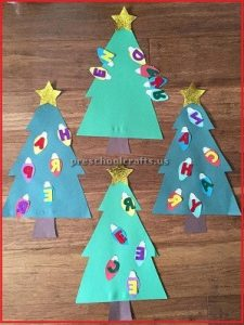 Celebration christmas tree craft for preschool and kindergarten