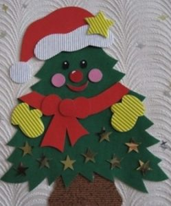 Christmas tree craft santa claus ideas for preschool and kindergarten