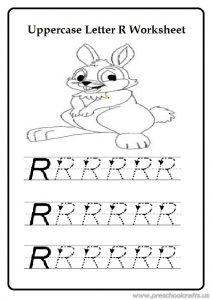 Free practice uppercase letter r worksheet for preschool