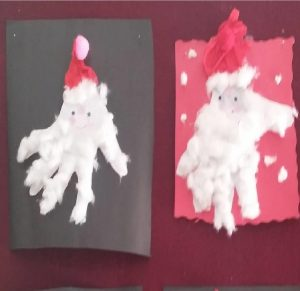 Happy new year santa claus craft idea - preschool and kindergarten