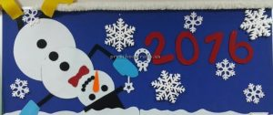 Happy new year bulletin board for preschool