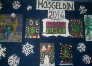 Happy new year bulletin boards for kindergarten