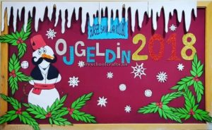 Happy new year bulletin boards ideas for kindergarten