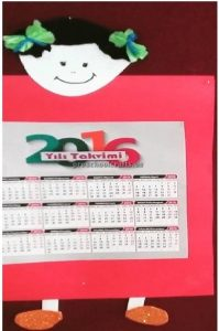 Happy new year calender craft ideas for preschool