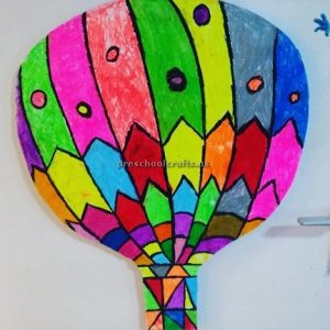 Hot air ballon craft ideas for pre school and kindergarten