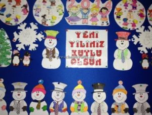 New year bulletin board for preschool