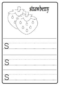 Practice your lowercase letter s worksheet.