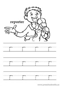 Trace the lowercase letter r free printables worksheet for preschooler