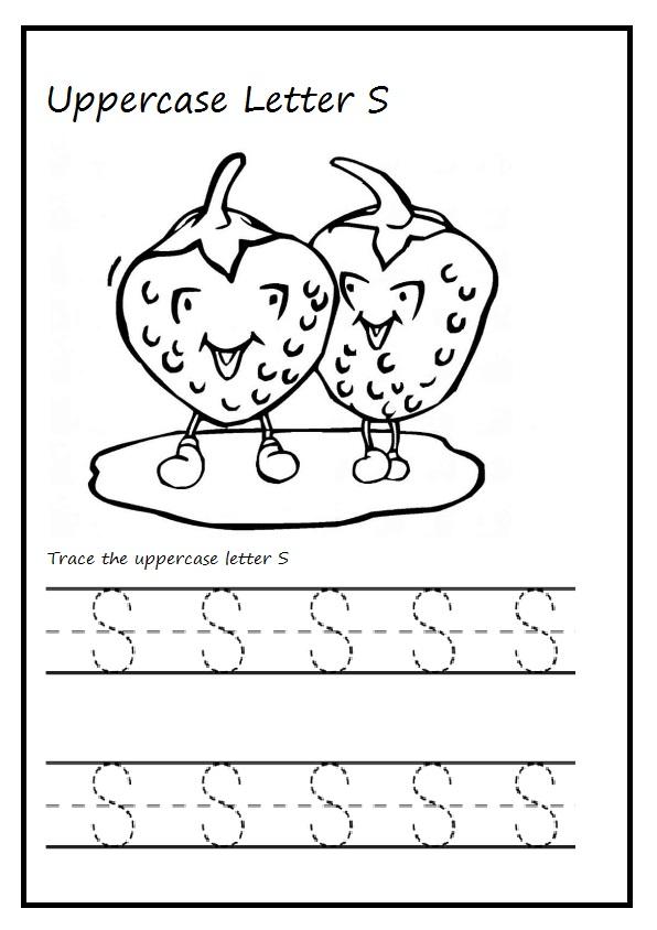 Uppercase Letter S Worksheet Printable Preschool And Kindergarten
