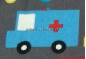 ambulance craft idea for preschool and kindergarten