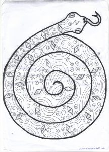 animal snake craft pattern for kids