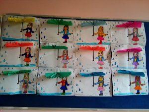 autumn accordion umbrella craft idea for kids
