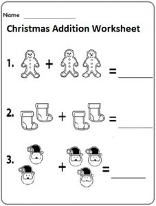 christmas addition free worksheets for preschool