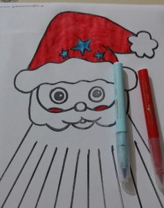 christmas santa claus kids craft activity