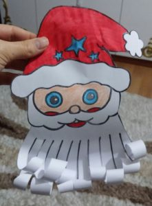 cut paste santa claus craft activity for christmas