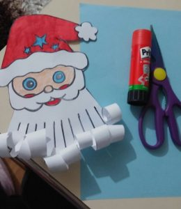easy fun santa claus craft idea for happy new year