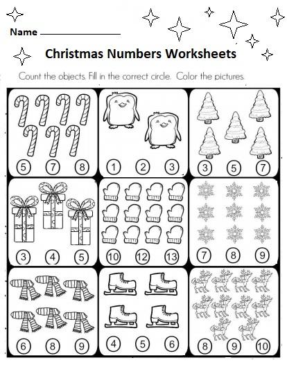 free preschool christmas numbers worksheets preschool crafts. Black Bedroom Furniture Sets. Home Design Ideas