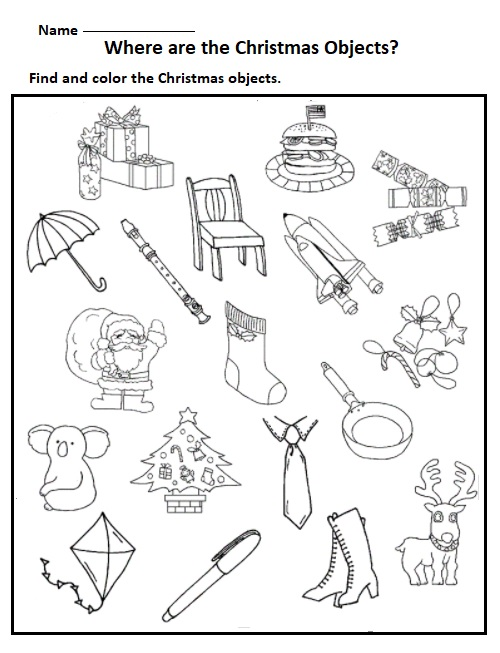 free printable christmas worksheets for kids Preschool Crafts – Free Christmas Worksheets