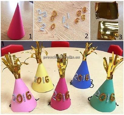 happy new year hat crafts for preschool and kindergarten ...