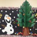 happy new year with olaf kids fun bulletin board ideas