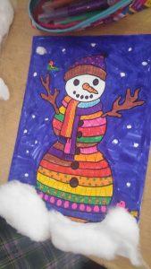 kindergarten christmas holiday snowman craft ideas