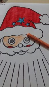 kindergarten santa claus activity idea