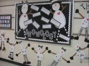 kindergarten winter bulletin boards