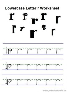 lowercase letter r practice worksheet for preschool free printable