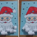 santa claus christmas craft idea for preschool