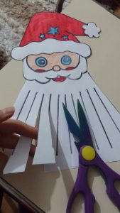 santa claus christmas cut activity idea for kids