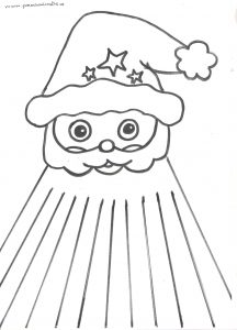 santa claus craft idea template
