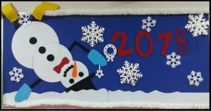 snowman christmas bulletin boards for preschool teachers