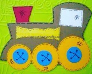train craft ideas for pre school and kindergarten