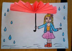 umbrella autumn rain craft ideas