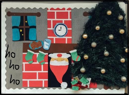 welcome new year santa claus preschool bulletin board crafts - Santa Claus Preschool Crafts