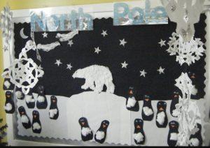 penquin winter kids bulletin boards