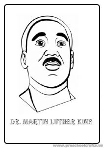 Dr Martin Luther King Day Coloring Page for Preschool Kindergarten
