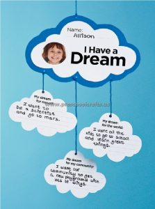 I Have a Dream Martin Luther King Day Craft Ideas for Preschool and Kindergarten