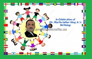 In Celebration fo Dr. Martin Luther King Day Bulletin Board Idea