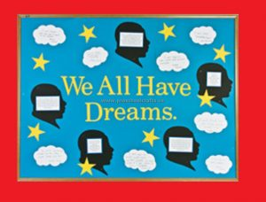 Martin Luther King Day Bulletin Board We All Have Dreams Preschool Kindergarten