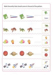Pattern Kindergarten Pattern worksheet