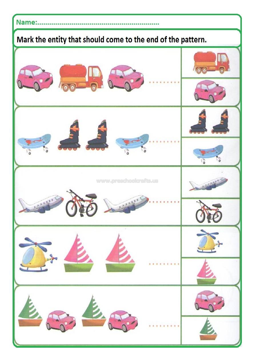 colored pattern worksheets for kids preschool and kindergarten. Black Bedroom Furniture Sets. Home Design Ideas