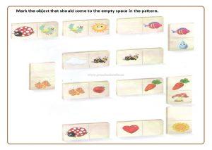 Preschool Pattern worksheet for kids