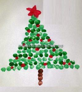 Winter Christmas Tree Craft ideas for kindergarten