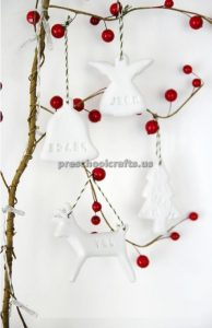 Winter Christmas Tree Craft ideas for preschoolers