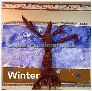 Winter Tree Craft bulletin board ideas