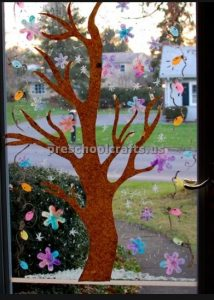 Winter Tree Craft ideas for preschoolers