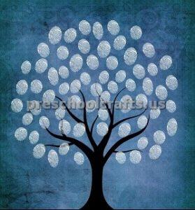 Winter fingerprint tree Craft ideas for preschooler and kindergartner